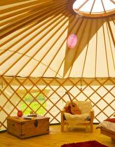 Rocombe Retreat - yurt interior