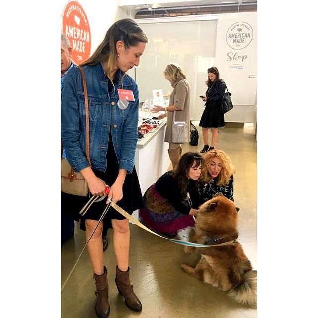 "Martha's chow"" Peluche"" Dani Fiori of Sweet Dani B's and I were so in love with this ball of fluff, we totally ignore the honoree that was holding the leash. this amazing photo was courtesy of her instagram acct @alonovak"