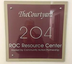 Entrance Sign to ROC Resource Center