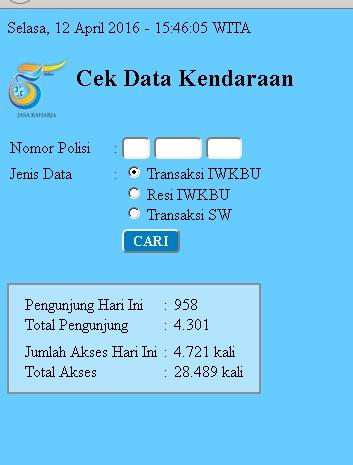 data kendaraan