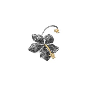 Earring Guillermina Black Diamond - SCH 455-3-right