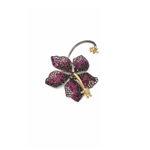Earring Guillermina Burgundy - SCH 455-1-right