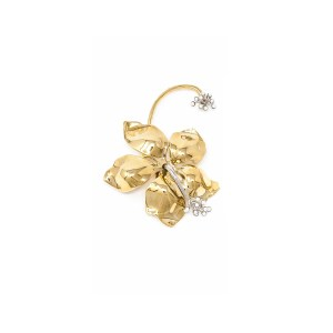 Earring Guillermina Flower Gold - SCH 457-1-right