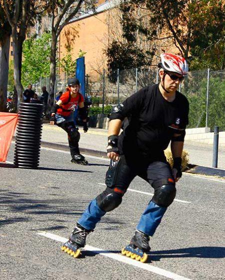 Jose Miguel monitor de la escuela de patinaje Rodats de Barcelona