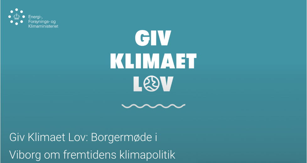 Giv Klimaet Lov: Borgermøde om fremtidens klimapolitik
