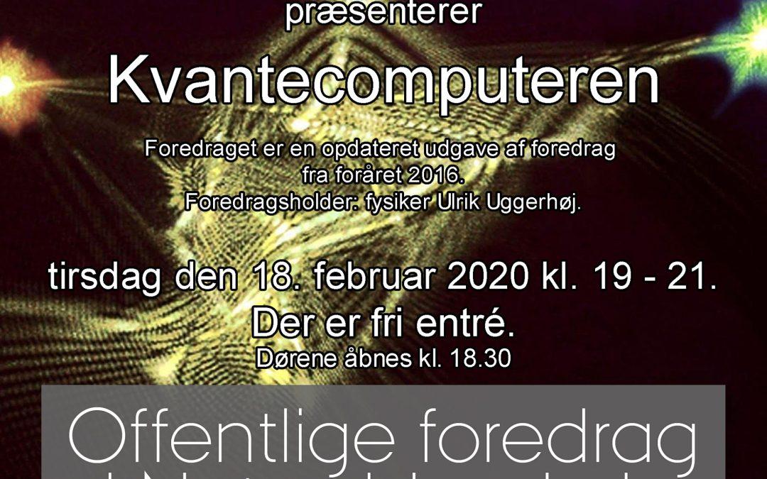 Hør om kvantecomputeren-  foredrag i Arken