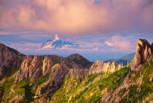 Mt. Rainier from Mt. Margaret Backcountry, Mt. St. Helens National Volcanic Monument, Washington