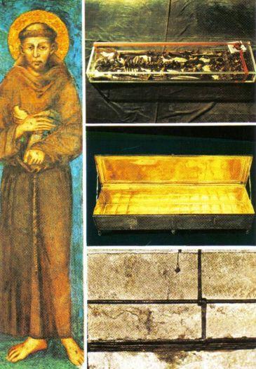 Assisi 12 (relikwie in de basliiek)
