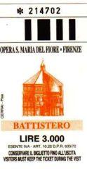 Battistero San Giovanni 02 (toegangsticket)