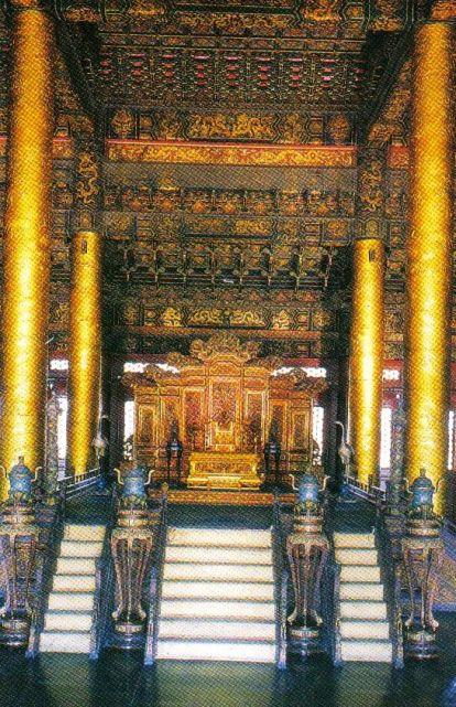 Verboden Stad 16 (gouden keizerlijke troon)