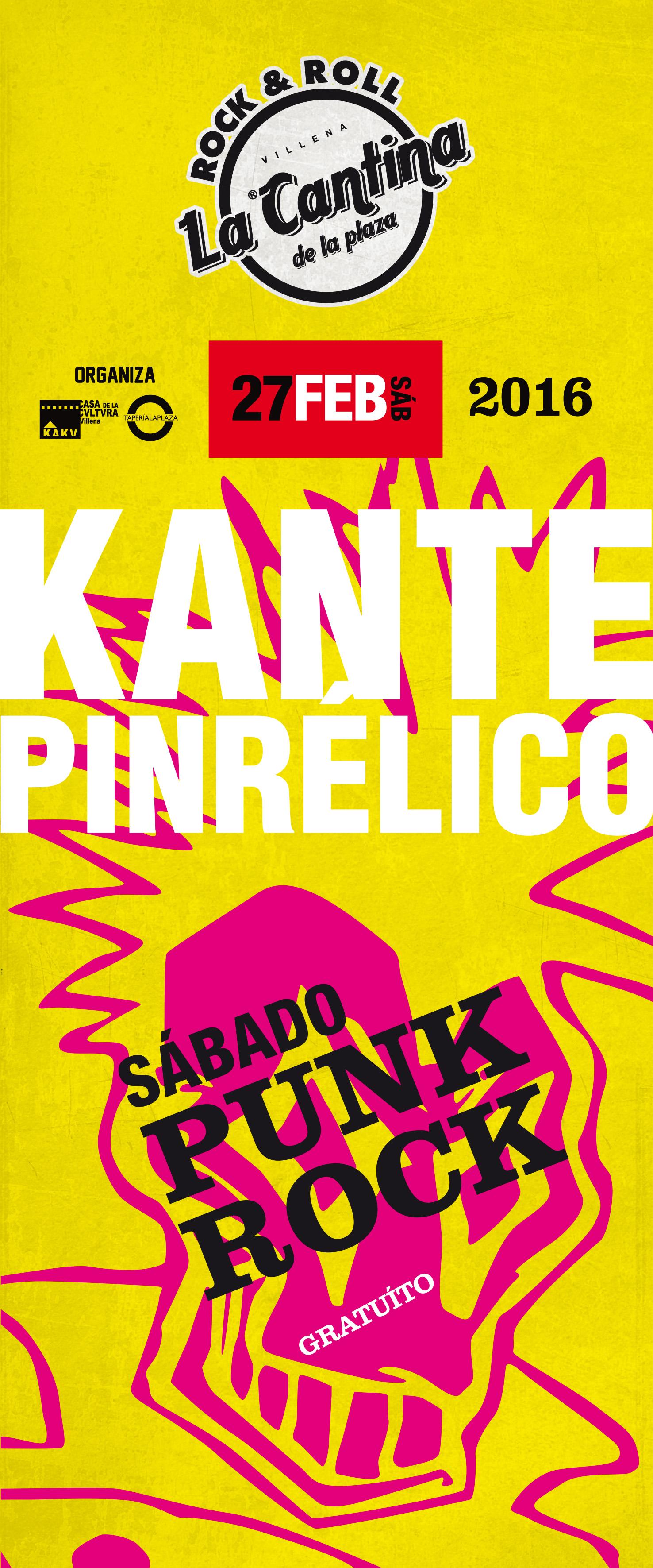 Kante Pinrélico en la Cantina de la Plaza