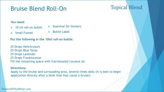 Bruise Blend Roll-On Recipe