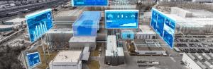 Monitoraggio di distanze, posizioni e livelli con distanziometri LASER e visualizzazione su display giganti