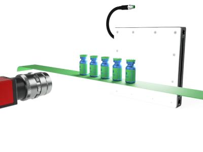RODER vision application with led backlight and bottle on belt