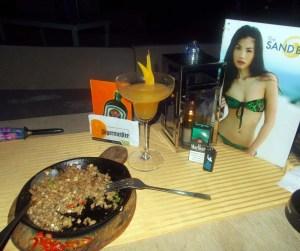 sisig and cocktails, Boracay