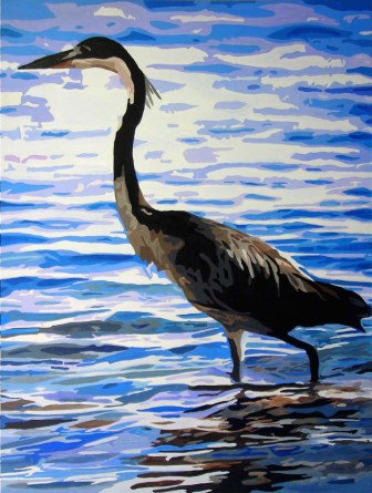 """Great Blue Heron"" 2003 - Acrylic on Canvas"