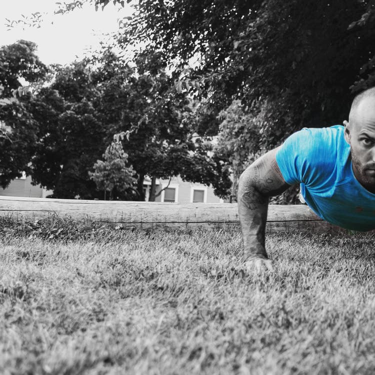 therapy, stephen rodgers counseling, denver counselor for men, men's therapy, man doing pushups, exercise, wellness