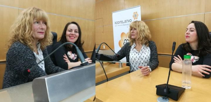 Divna Milković, holistička babica i Irina Budovalčev koja je pričala o svom ličnom iskustvu