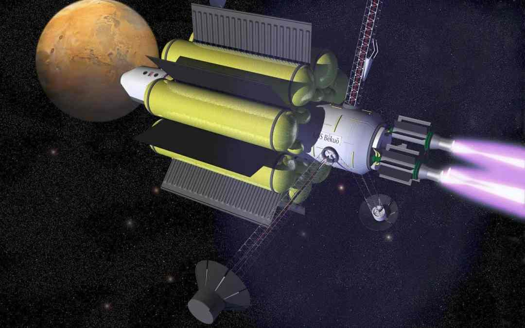 Sit back, relax, and enjoy your short 39-day flight to Mars!