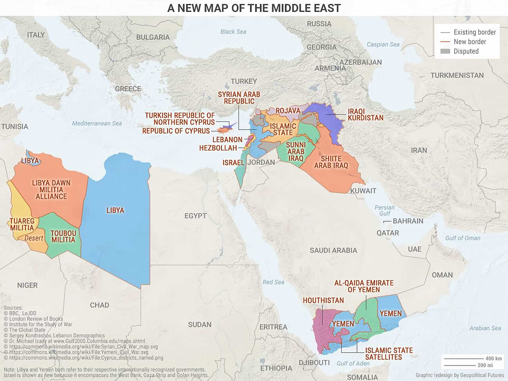 Map 3 Redrawing the Middle East The