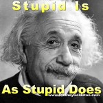 albert einstein stupidity