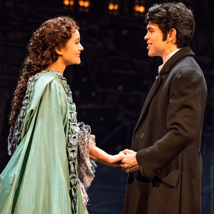 Rodney Ingram and Ali Ewoldt in Phantom of the Opera on Broadway. All I Ask of You
