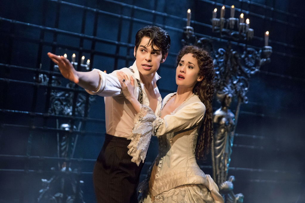 Rodney Ingram and Ali Ewoldt in Phantom of the Opera on Broadway. photo: Matthew Murphy