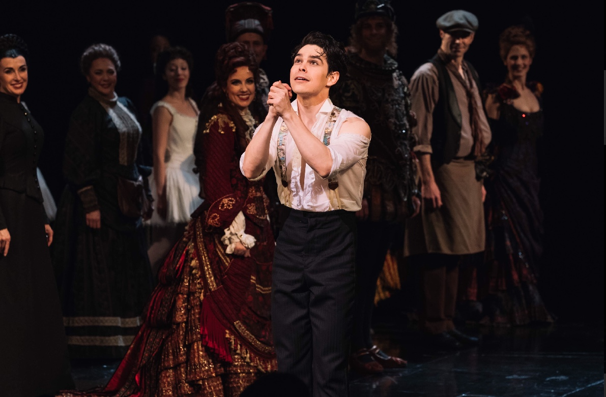 Rodney Ingram taking a stage bow at Phantom of the Opera on Broadway