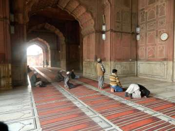 Prayers at the Jama Masjid Mosque
