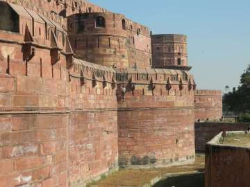 Outside Red Fort, Agra