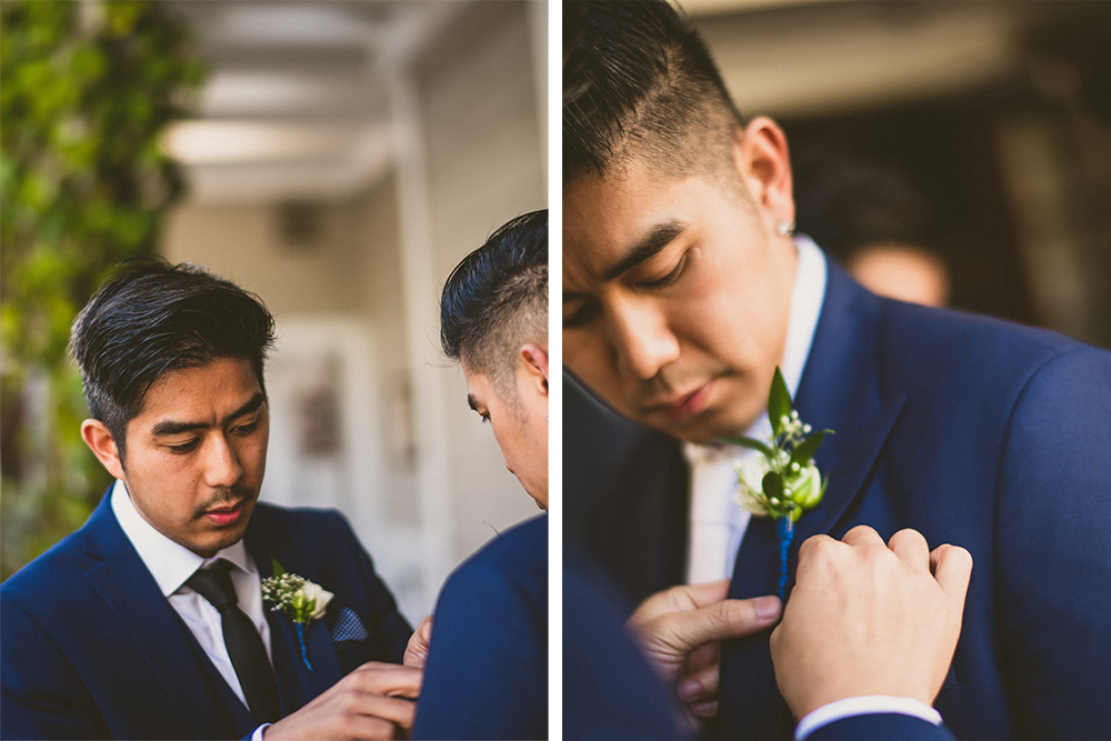 Groom boutonniere