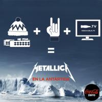 Metallica en la Antártida por cortesía de Coca-Cola Zero.