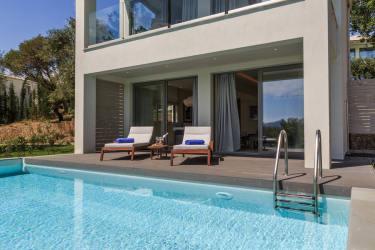 CorfuPrivatePoolVilla07 - Deluxe Panorama Villa Bay View with private pool
