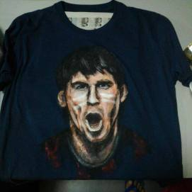 Messi - Shirt commission from carousell
