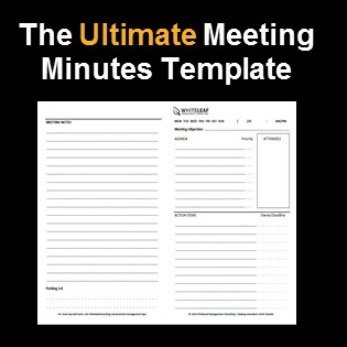 The Simplest Meeting Minutes Template You Will Ever Find