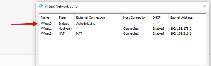 Vmware Virtual Network Editor