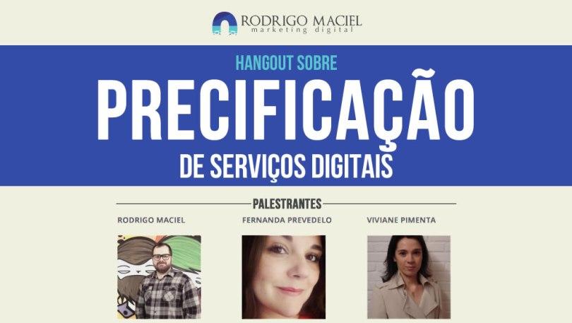 Hangout sobre Precificação de Serviços Digitais