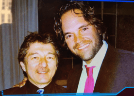 With Mike Piazza