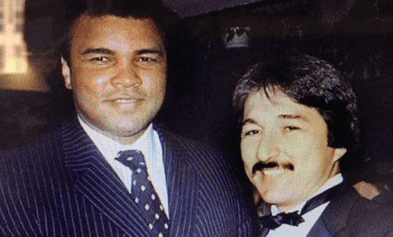 With Muhammad Ali