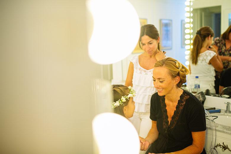 fotos espontáneas del backstage de la novia