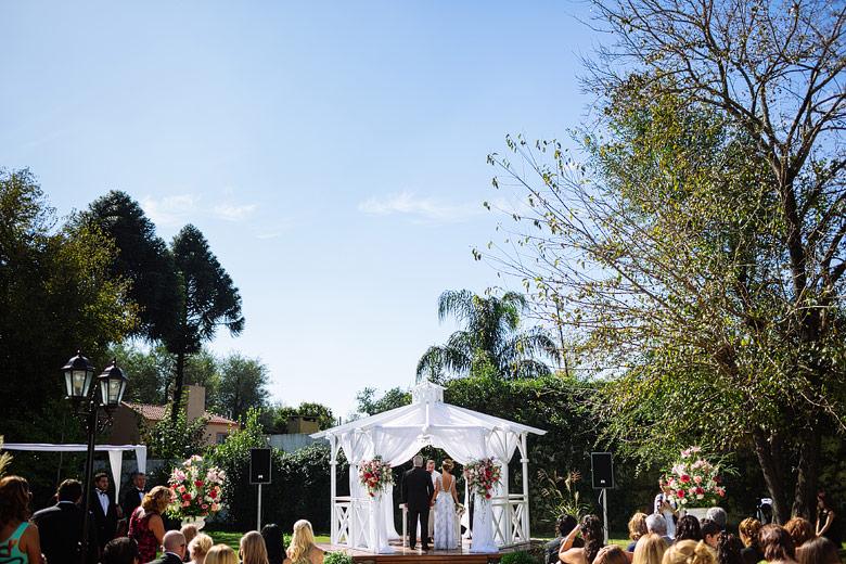 Casamiento de día al aire libre