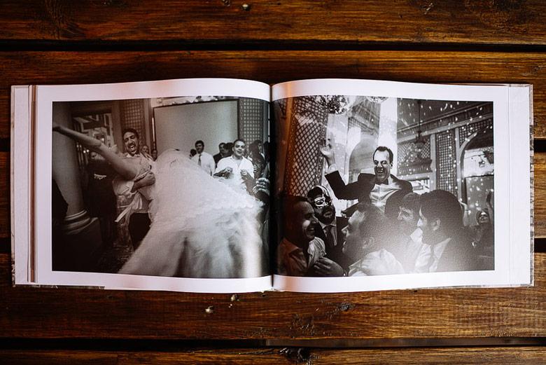 Diseño y armado de Photobook de matrimonio