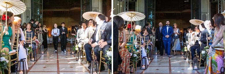 ceremonia de casamiento en el jardin de invierno del palacio sans souci