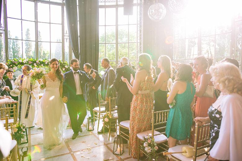 casamiento en el jardin de invierno del palacio sans souci al atardecer