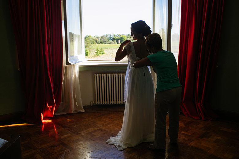 preparacion de la novia en estancia santa elena