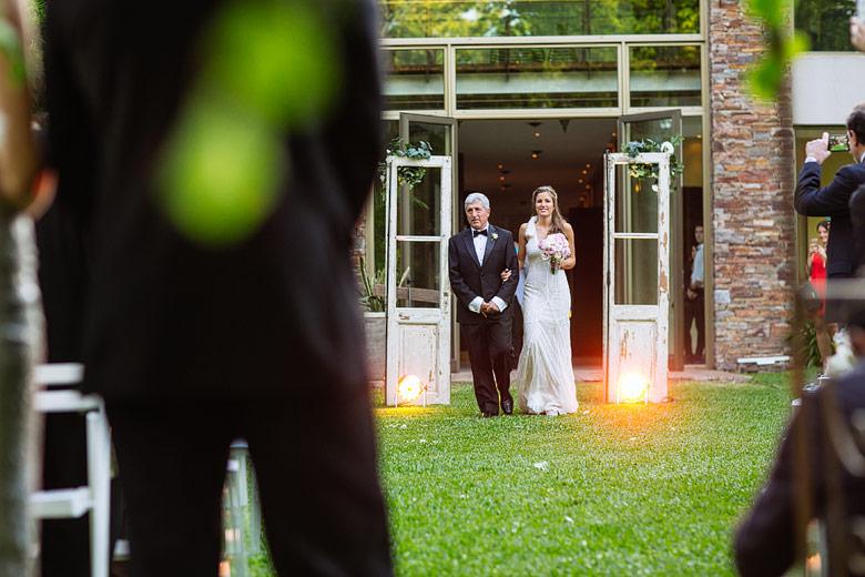 ceremonia de casamiento de dia en rincon de pilar