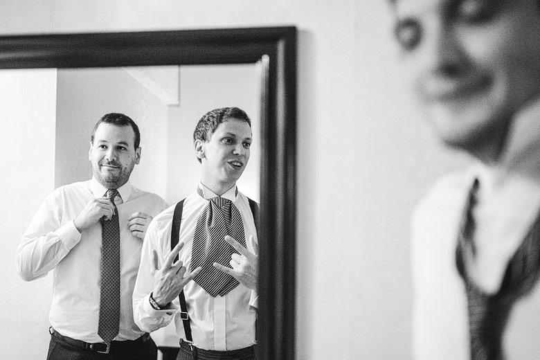 foto artistica de casamiento en blanco y negro