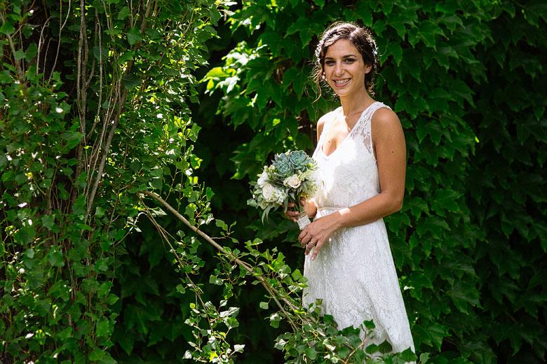 retrato de novia en quinta los diez casamiento