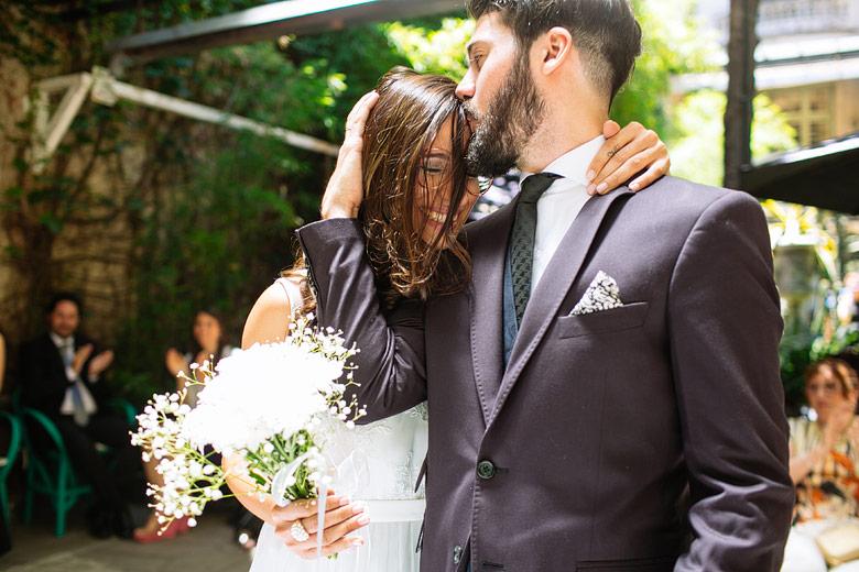 foto tierna casamiento