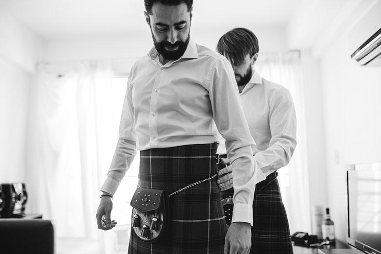 scotish wedding groom